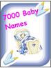 Thumbnail 7,000 Baby Names